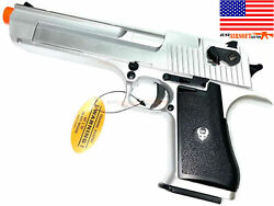 Airsoft Desert Eagle Style Gas Blowback Pistol With Mag Free 1000 Bbs +hard Case