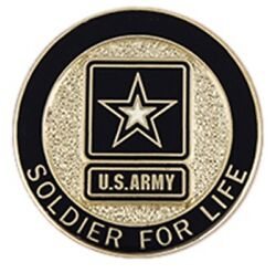U.s. Army Soldier For Life Lapel Pin Cc-1741