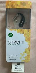 Motorola Sliver Ii Wireless Headset Bluetooth Charging Case Wall Charger New