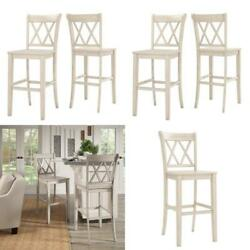 Antique White Double X Back Bar Height Chairs Set Of 2