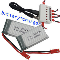 For Syma X5 M68 Rc Quadcopter Helicopter Drone 600mah 752540 25c Li-po Battery