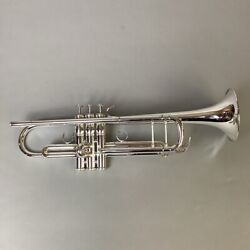 Used __trumpet Yellow Brass Bell Yamaha / Ytr-8335s Free Shipping