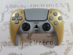 New Metallic Gold Sony Ps5 Dualsense Wireless Controller W/ Gray Accents