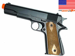 Airsoft Gas Powered 1911 Style Full Size Non-blowback 300 Fps +free 1000 Bio Bbs