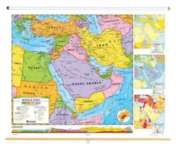Nystrom Political Relief Map, Middle East