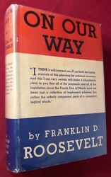 Franklin D Roosevelt / On Our Way Signed By Roosevelt On White House Calling 1st