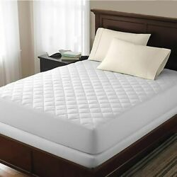 Queen Size Elasticated Fitted Quilted Mattress Protector Pad Cover No Noise