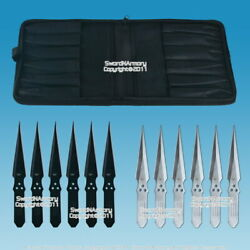 12 Pcs 8.5 Thrower Set 440 Stainless Steel Throwing Knives With Zipper Pouch