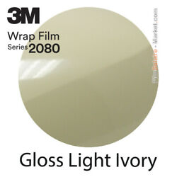 Gloss Licht Ivory 3m 2080 G79 New Series Car Wrapping Total Abdeckung Folie