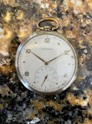 1950s Wittnauer 17t 15 Jewel Pocket Watch 12s For Repair