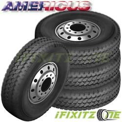 4 Americus Ms4000 385/65r22.5 160k L/20 All Season Commercial Tires