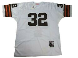 Cleveland Browns Jim Brown 32 Mitchell And Ness Throwback Nfl Jersey Size 54 Xxl