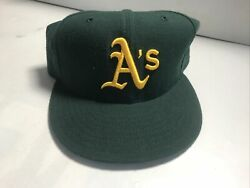 New Era Fitted Oakland A's Baseball Cap Hat Size 7 1/2 7.5 New All Green 5950