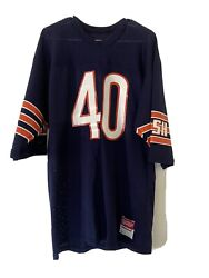Vintage Chicago Bears Gale Sayers Sand Knit Football Jersey, Size Large Nfl