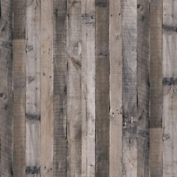 Gray Wood Wallpaper Wood Peel And Stick Wall Paper Self Adhesive Removable Kit
