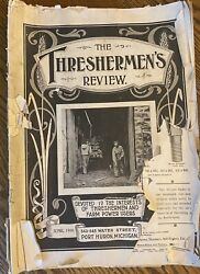 Steam Engine Magazine 'thresherman's Review' June 1900 Torn Cover Complete Rare