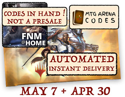 MAGIC MTG Arena code card FNM Home Promo Pack MAY 7 APR 30 INSTANT EMAIL