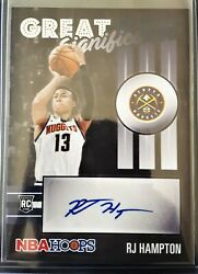 Rj Hampton 2020-21 Nba Hoops Great Significance Auto Rc Nuggets Autograph Rookie