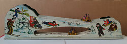 Ussr Soviet Wind-up Toy Lmz Rolling Down The Mountains 1960s. Lmz