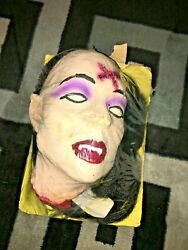 Halloween Prop Vintage 80and039s/90and039s Decapitated Female Vampire Head. Truly Bizarre.