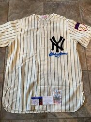 Mickey Mantle Signed Mitchell And Ness New York Yankees Jersey Size Lg...reduced