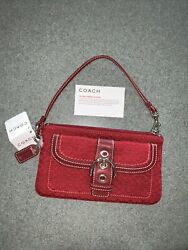 Red Coach NWT Large Wristlet Gorgeous Deep Red With Silver Hardware $48.00