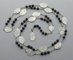 French, Antique Large Rosary. Stations Of The Cross. Jesus, Mater Dolorosa.