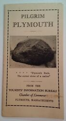 Pilgrim Plymouth Ma Tour Automobile Motoring Map Book Vtg Early 1900and039s Rare Mayf