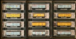 Micro-trains N-scale Farm To Table 40' Double-sheathed Wood Reefer 12 Car Set