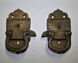 Matching Pair Lh And Rh Brass Icebox Latches Marked 29a