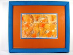 Decoraters Choice Blue And Orange Colors Custom Framed Using Uv Glass Must See
