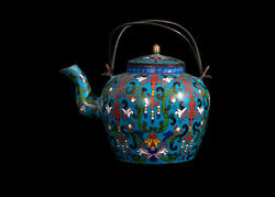 Chine 19. Jh Antique Chinois Tong Shun Tang Cloisonnandeacute Andeacutemail Vin/thandeacuteiandegravere