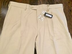 725 Loro Piana Beige Pleated Cotton Pants Size Us 40 Or Eu 56 Made In Italy
