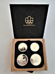 1976 Canada Complete 28 Coin Proof Silver Olympic Set Encapsulated And Boxed.