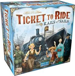 Rails And Sails Ticket To Ride Board Game Asmodee Nib