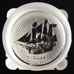 Mint Roll 20 X 2020 1 Oz Silver - Cook Islands Mutiny On The Bounty Pirate Ship