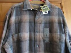 Nwt Xlt Mens St Johnand039s Bay Brawny Flannel Shirt X Large Big Andtall Charcoal Mult