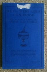Ruth Webb Lee's Handbook Of Early American Pressed Glass Patterns Vg 1946 15th P