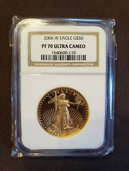 2006-w American Gold Eagle50 1 Oz Ngc Pf70 Ultra Cameo Excellent Condition