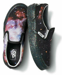 Vans Off The Wall Kids X NASA Space Voyager Galaxy Classic Slip On Shoes