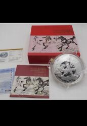 2014 Niue Chinese Lunar Year Of Horse 1 Kilo Silver Coin
