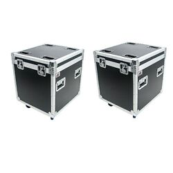 2 Utility Road Cases Osp 22 Ata Road Case Wheels Hard Rubber Lined