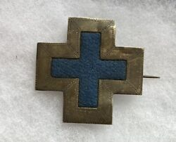 Civil War Original 6th Corps Badge Silver Authenticated