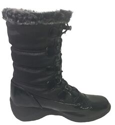 Totes Winter Waterproof Insulated boots Women's Kohls Lisa Black Size 8 M $22.00