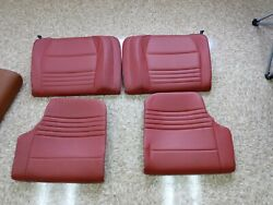 Porsche 996 Rear Seat Cushions And Backs - Set- Lobster Red - Coupe 99-04