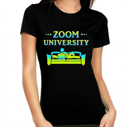 Zoom University Shirt - Zoom Shirts For Women Young Adults And Teens - Distance L
