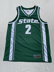 Nike Michigan State Spartans Authentic Basketball Jersey Size 48 Ncaa Big 10 Vtg