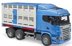 Bru3549 - Truck 6x4 Scania R Highline Carrier Cattle Trailer Déposable With 1