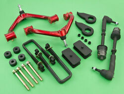 2011+gmc Chevy 2500hd 4wd Full Lift Front 1.5+rear 1+control Arm+tie Rod+diff