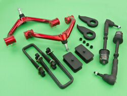 2011+gmc Chevy 2500 2500hd 2wd Full Lift Front 3+rear 2.5+tie Rod+control Arm